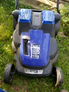 Kobalt 40v cordless twin blade 20in cut dual battery mower