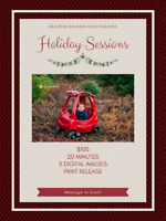 "Holiday Sessions- Christmas tree ""hunting"" for littles"