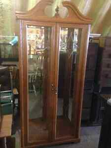 Curio Cabinet with  6 (six) Glass Shelves
