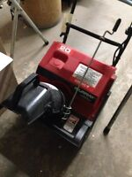 Electric snow thrower.  Needs new switch