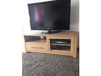 Oak TV stand / unit / cabinet