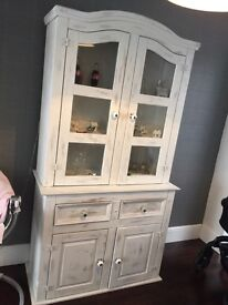 Shabby Chic Chalk White Distressed Dresser Sideboard