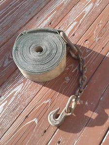 Sangle d'arrimage pour camion avec chaine et crochet