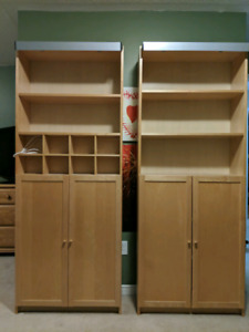 """Ikea """"billy bookcase"""" cabinets"""