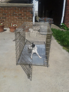 DOG CAGE (GOOD SIZE) 24 X 24 X 30, CALL #226 344 5107