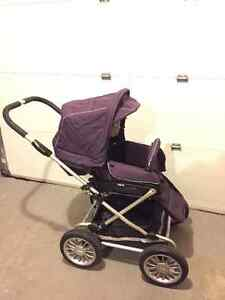Walking stroller with bassinet