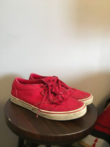 Red Vans Atwood shoes, size 11