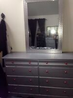 Pewter dresser set
