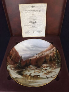 Royal Grafton Collector Plate Quebec Winter Limited Edition