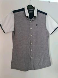 Boys button through short sleeve shirt from next age 12