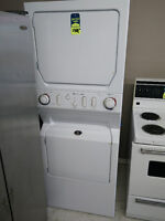 WHITE HEAVY DUTY MAYTAG STACKABLE WASHER AND DRYER ONLY $750+HST