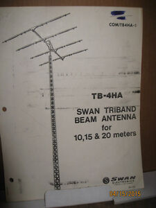SWAN TRIBAND TB-4HA BEAM ANTENNA HAM RADIO NOT CB RADIO