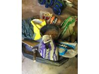 Job lot cement mortar mixing tray meter square sand etc