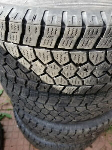 Set of 4 Toyo open country winter tires and rims for sale