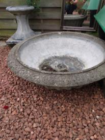 Concrete decorative garden urn and plinth