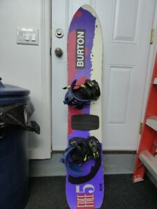 1991 Burton Free 5 Snowboard with Bindings