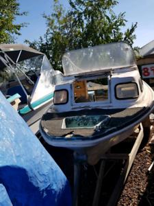Savage 14.5 foot half cab project boat