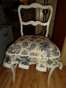 Shabby chic distressed vanity chair
