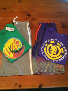 Boys Large (10-12) tees, shorts and Nike swim shorts