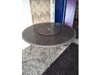 Brand New Boxed Shrewsbury 6 Seater Garden Table with Lazy Susan