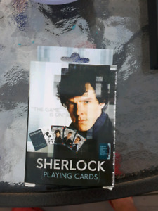 Brand new BBC sherlock deck of playing cards