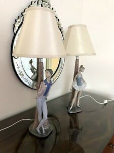 Nao Lladro  Authentic and Never Used Set of Ballerina Lamps