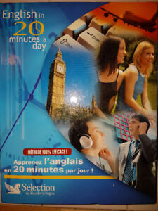 English in 20 minutes a day + 6 CD + livres