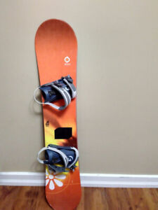 Snowboard and boots set