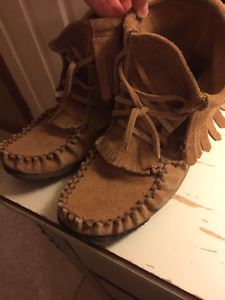 LEATHER/SUEDE MOCCASINS FOR SALE - SOFT MOC