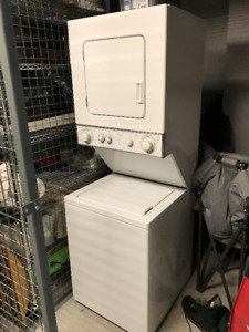 Stackable apartment size washer and dryer