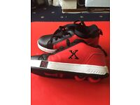 Supportsdirect X fresh boy's Heelys size 3 black/red excel condition PRP £55