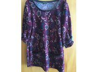 Burgundy patterned tunic