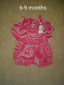 Baby Girl Clothing Lot (6-12 months) NEW