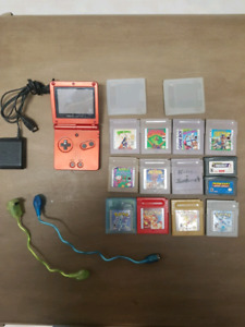 Game Boy advance sp & 13 games