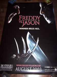 "FREDDY VS JASON original movie poster 48"" by 71"" D/S"