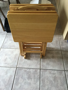 4 TV Tables with stand