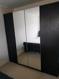 IKEA pax wardrobe with mirrors