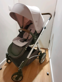Delux stroller (Good condition, large wheel with shova)