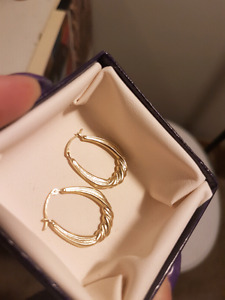 10k yellow gold stamped earrings