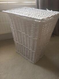 White laundry basket £5