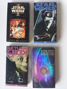 Star Wars and Star Trek VHS Tapes
