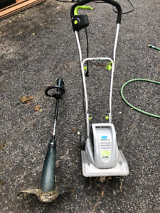 ELECTRIC TILLER and ELECTRIC WEED WHACKER