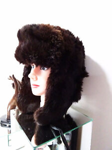 RUSSIAN FUR HAT shapka ushanka treukh EAR FLAPS trooper SABLE Kitchener / Waterloo Kitchener Area image 3