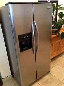 7 yr old stainless side x side fridge