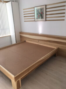 Bed Frame - Custom Made - Any Size - Natural Wood