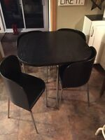 IKEA Fusion Compact Black Dining Table + Chairs!