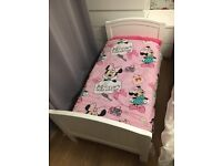 White Junior Bed & Mattress excellent condition