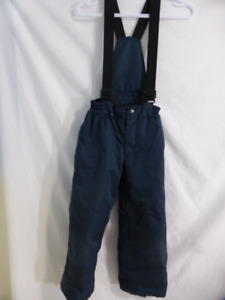 Navy blue snowpants size small, ages 7-8, with suspenders