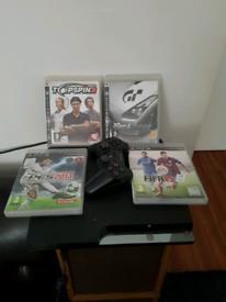 PlayStation 3 4 games 1 pad