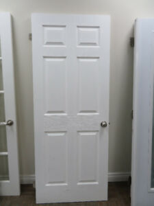 White Wooden Door New-like condition 80 Inch x 32 Inch like new